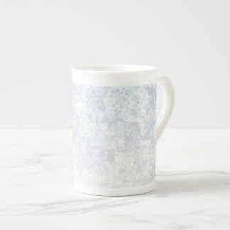 Light Floral Pattern Background Template Tea Cup