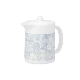 Light Floral Pattern Background Template Teapot