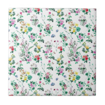 Light Floral Pattern Ceramic Tile