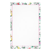 Light Floral Pattern Stationery