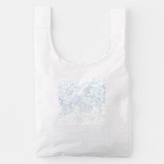 Light Floral Texture Background Template Reusable Bag