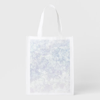 Light Floral Texture Background Template Reusable Grocery Bag