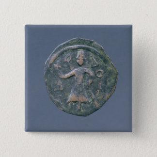 Light follis  of Baldwin II, Count of Edessa Pinback Button