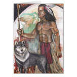 Light Foot & Wolf Moon - Native American Indian Ca Cards