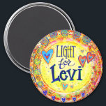 """""""Light for Levi'"""" Inspirivity Magnet<br><div class=""""desc"""">This collection was designed for a special little boy named Levi who has touched the hearts of everyone who follows his story. The world is cheering on Levi (and his family) and are looking forward to the day when he is running around smiling and laughing. It will be a day...</div>"""