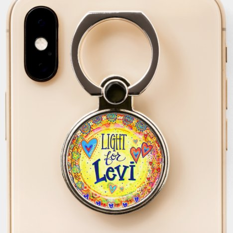 """""""Light for Levi"""" Inspirivity Phone Ring Stand"""