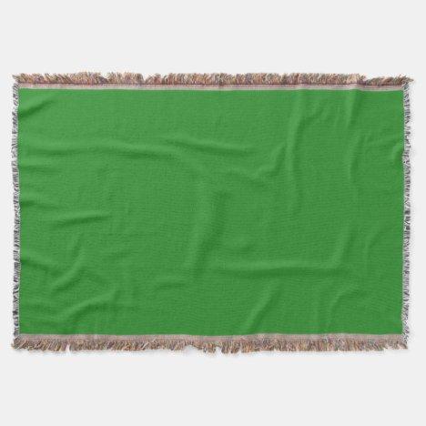 Light Forest Green Throw Blanket