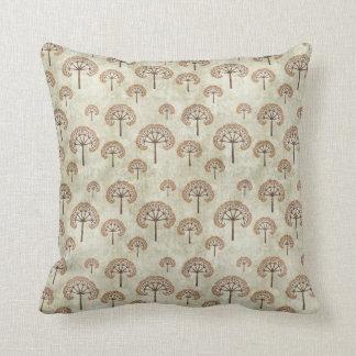 Light Fractal Tree Pattern Throw Pillow