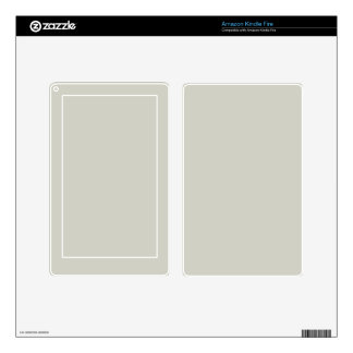 Light French Grey Beige Cream Color Only Kindle Fire Decals