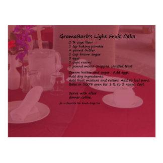 Light Fruit Cake Postcard