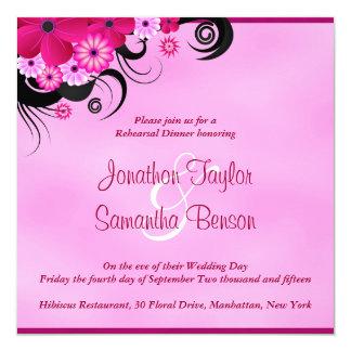 Light Fuchsia 5.25 Wedding Rehearsal Dinner Invite