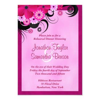 Light Fuchsia 5x7 Wedding Rehearsal Dinner Invites