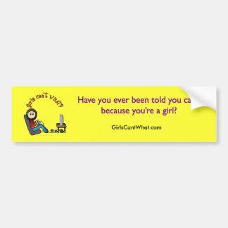 Light Gamer Girl Bumper Sticker