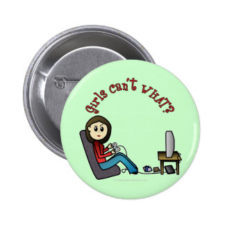 Light Gamer Girl Button
