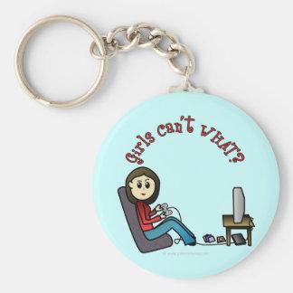 Light Gamer Girl Keychain