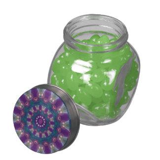 Light Gatherers, Magical Abstract Purple Mandala Glass Jars