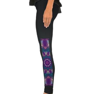 Light Gatherers, Magical Abstract Purple Mandala Leggings