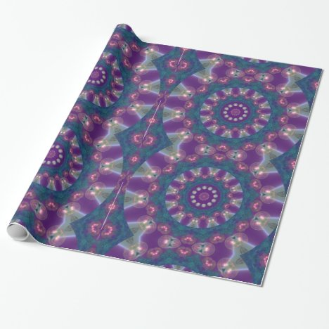 Light Gatherers, Magical Abstract Purple Mandala Wrapping Paper