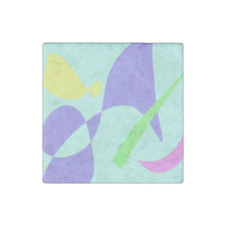 Light Gentle Soft Abstract Stone Magnet