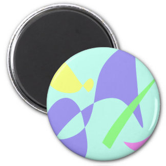 Light Gentle Soft Abstract Refrigerator Magnet