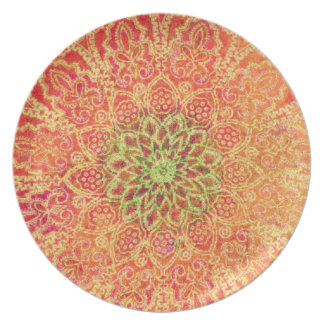Light Geometrical Floral Design by Carol Zeock Plate