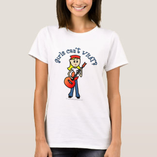 Light Girl Guitar Player T-Shirt
