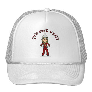 Light Girl in Red Marching Band Uniform Trucker Hat