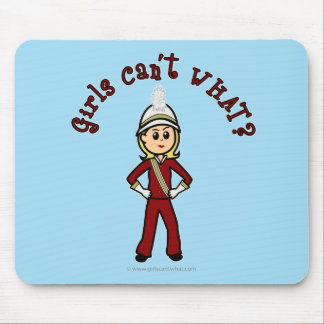 Light Girl in Red Marching Band Uniform Mouse Pad