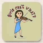 Light Girl Playing Violin Beverage Coasters