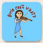 Light Girl Playing Violin Coasters