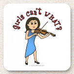 Light Girl Playing Violin Drink Coasters