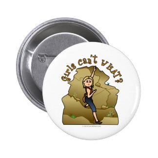 Light Girl Rock Climber Pinback Button