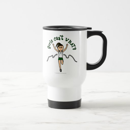 Light Girl Runner in Green Uniform 15 Oz Stainless Steel Travel Mug