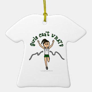 Light Girl Runner in Green Uniform Ornament