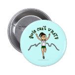 Light Girl Runner in Green Uniform Pins