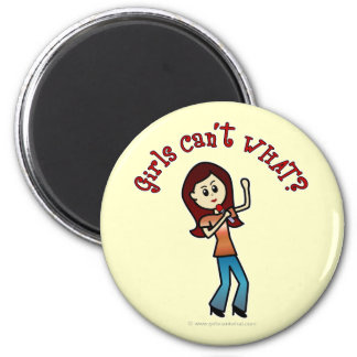 Light Girl Singer Fridge Magnet