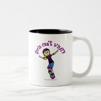 Light Girl Skater with Helmet Coffee Mug