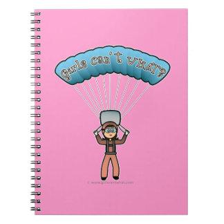 Light Girl Sky Diver Notebook