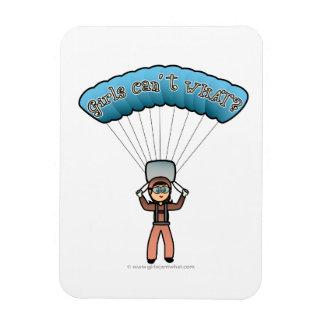 Light Girl Sky Diver Flexible Magnet