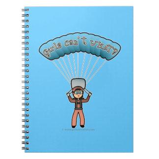 Light Girl Sky Diver Spiral Notebook