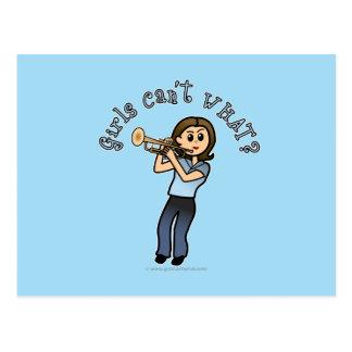 Light Girl Trumpet Player Postcard
