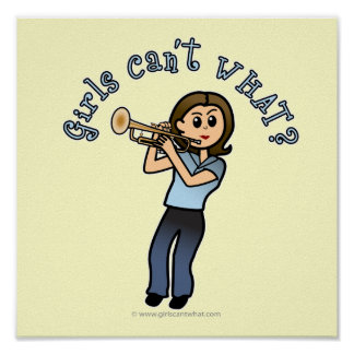 Light Girl Trumpet Player Poster