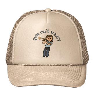 Light Girl Trumpet Player Trucker Hat