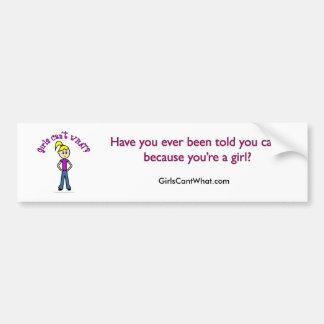 Light Girls Can't WHAT? Logo Bumper Sticker