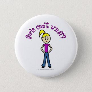 Light Girls Can't WHAT? Logo Pinback Button