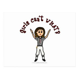 Light Girls Football Referee Postcard