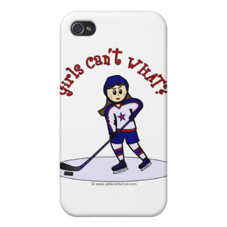 Light Girls Hockey Player iPhone 4 Covers
