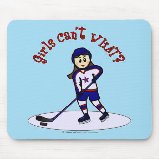 Light Girls Hockey Player Mouse Pad