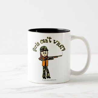 Light Girls Hunting Two-Tone Coffee Mug