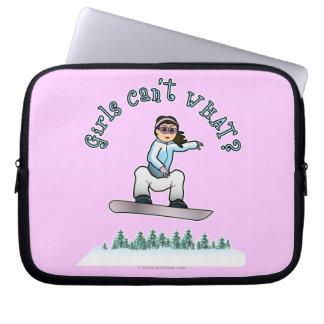 Light Girls Snowboarding Computer Sleeves